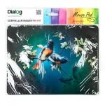 Коврик для комп. мыши Dialog PM-H17 черный с цветными птицами