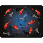 Коврик для комп. мыши Dialog PM-H17 черный с цветными рыбками