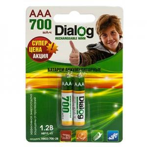 Аккумулятор Dialog R03   700 mAh (мизинчиковые)