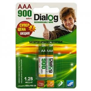 Аккумулятор Dialog R03   900 mAh (мизинчиковые)