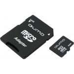 Карта памяти microSD  8GВ Qumo с адаптером (class 10)
