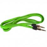Аудио-удлинитель (папа-папа) -AU101 3,5-3.5 (1 метр) (green)