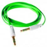 Аудио-удлинитель (папа-папа) -AU102 3,5-3.5 (1 метр) (green)