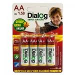 Батарея Dialog R6P Super Alkaline (4-BL)