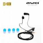 Наушники капельки Awei ES600M (3.5mm) (black)