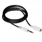 Аудио-удлинитель (папа-мама) AU103 3,5-3.5 (1 метр) (black)