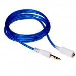 Аудио-удлинитель (папа-мама) AU103 3,5-3.5 (1 метр) (blue)
