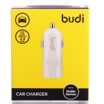 Адаптер автомобильный budi M8J062 USB/5V/2.4A (white)