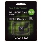 Карта памяти microSD 32GВ Qumo без адаптера (class 10)